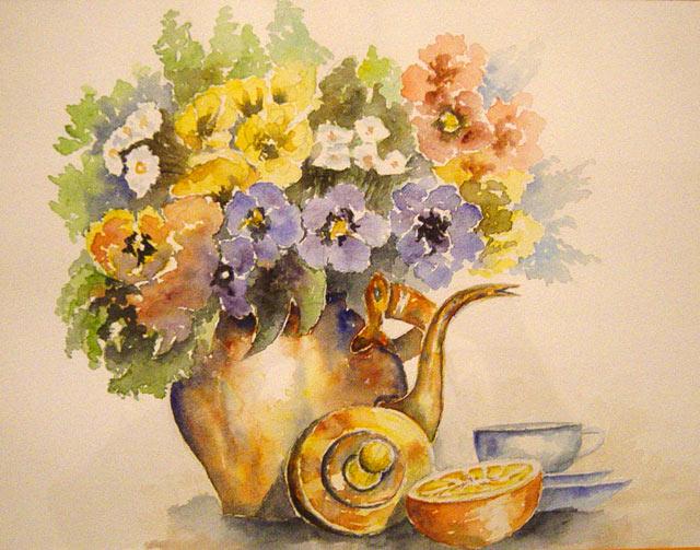 Les FLEURS  dans  L'ART - Page 19 Fleur-pot