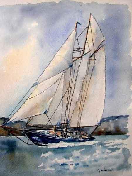 Aquarelle de J.LAVERNHE