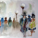 Aquarelle :Paris, la belle époque